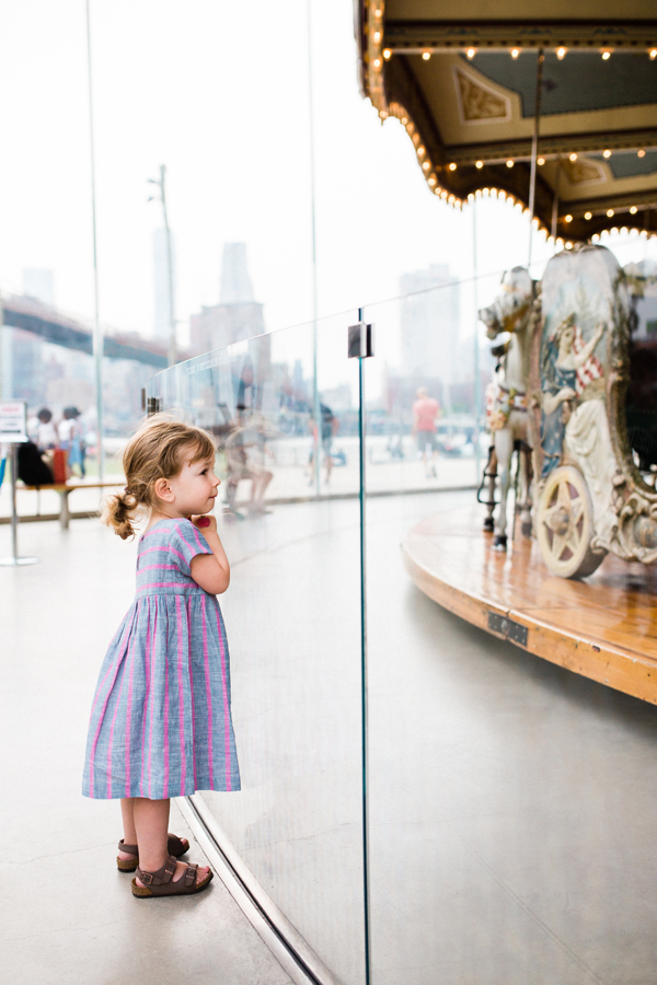 Zooey Magazine explores Jane's Carousel in Brooklyn with family