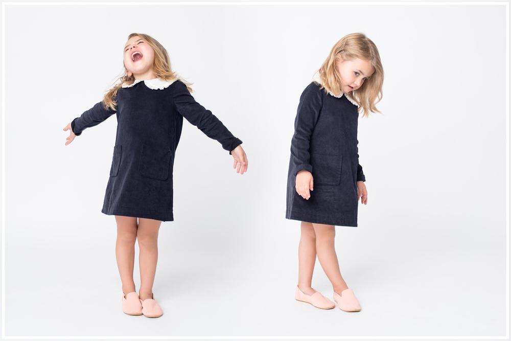 Dress: Hucklebones. Loafers: Zuzii.