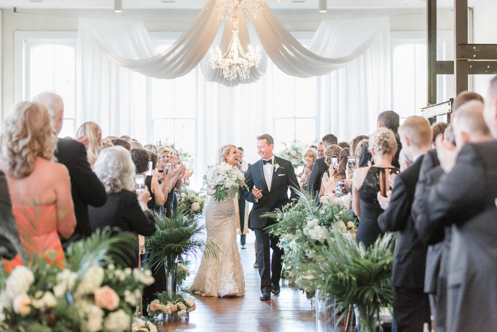 Ceremony Draping and Chandelier in Empire Room