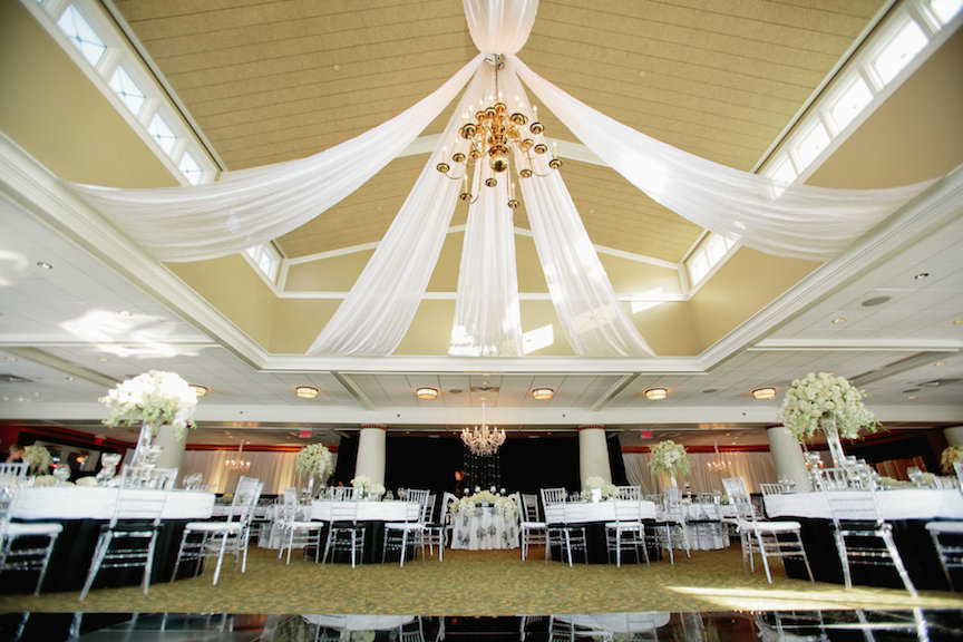White Ceiling Draping