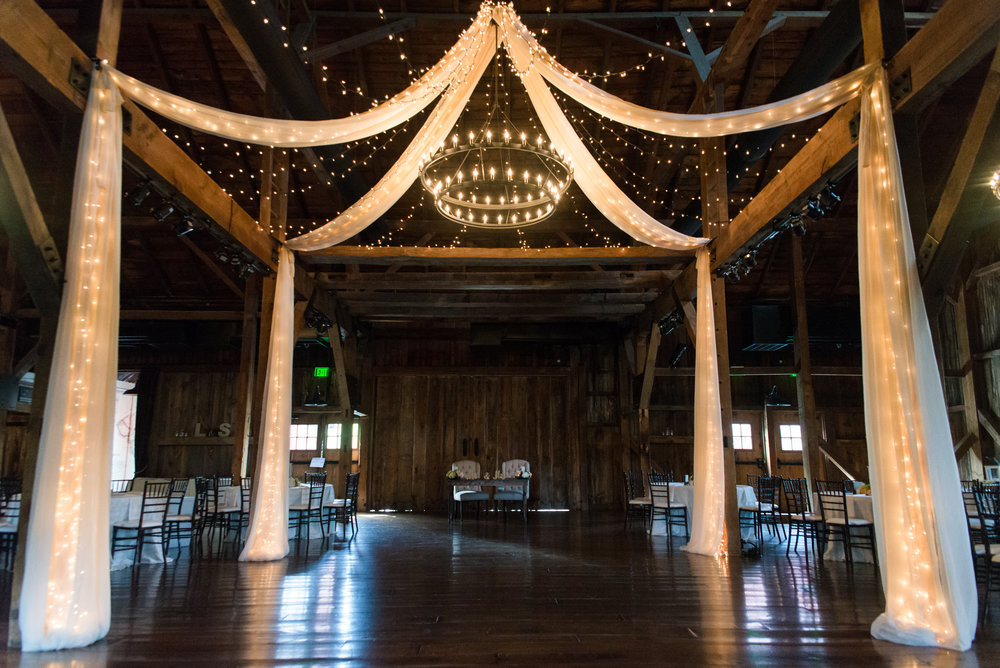 Starlight Dance Floor and Chandelier Draping
