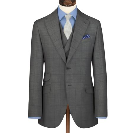 best mens style fashion lifestyle grooming blog charles tyrwhitt grey windowpane suit