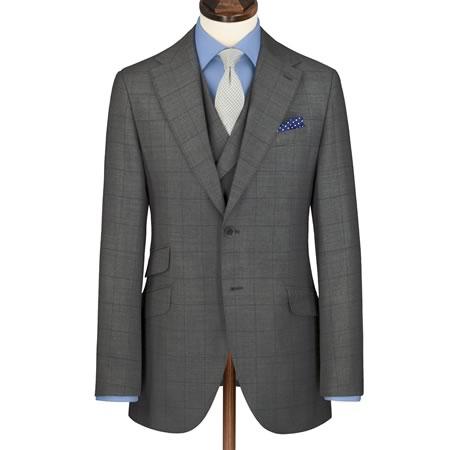 best mens style fashion lifestyle grooming blog charles tyrwhitt grey windowpane suit