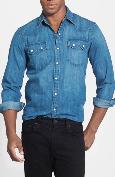 best mens style grooming lifestyle fashion blog levis sawtooth denim shirt