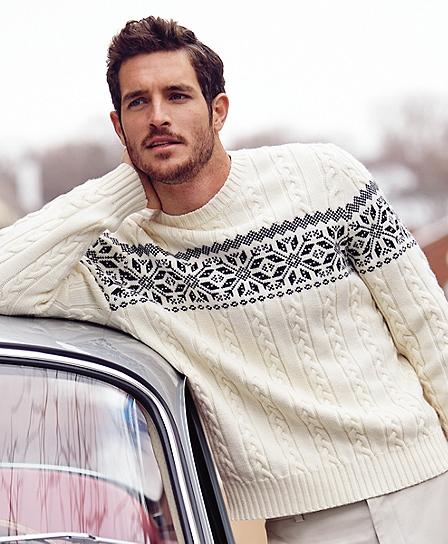 best mens style grooming lifestyle fashion blog brooks brothers fair isle merino sweater