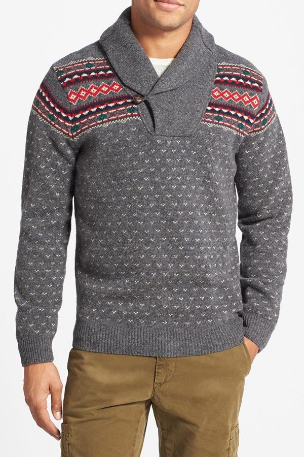best mens style shaving grooming lifestyle fashion blog gant christmas shawl sweater