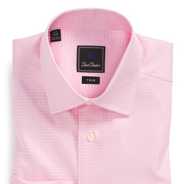 best mens style shaving grooming lifestyle fashion blog pink david donahue dress shirt