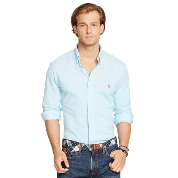 best mens style shaving grooming lifestyle fashion blog pastel blue ralph lauren polo oxford