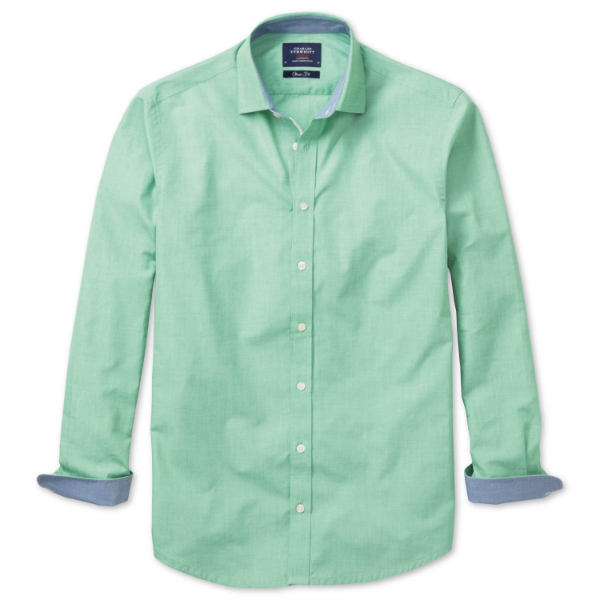 best mens style shaving grooming lifestyle fashion blog pastel green charles tyrwhitt casual shirt