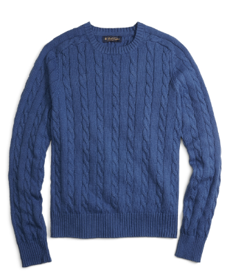 best mens style shaving grooming lifestyle fashion blog brooks brothers cable crewneck sweater