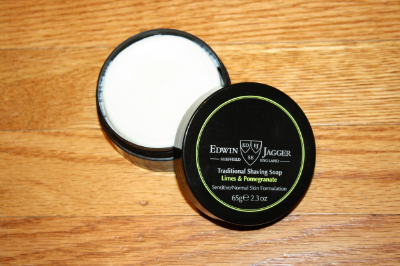best mens style shaving grooming lifestyle fashion blog edwin jagger limes and pomegranate shaving soap review 2