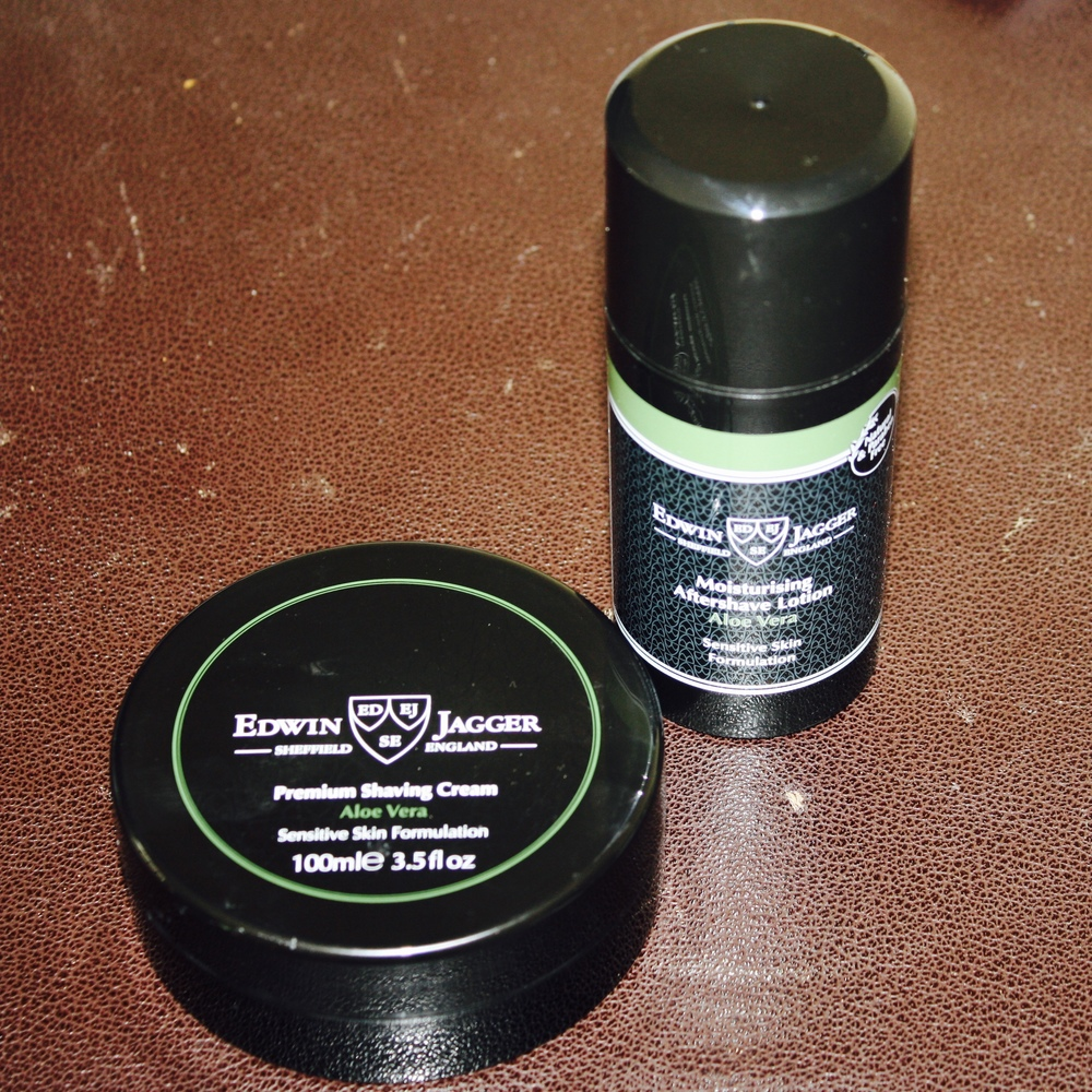 Edwin Jagger Aloe Vera Shaving Cream and Aftershave Lotion