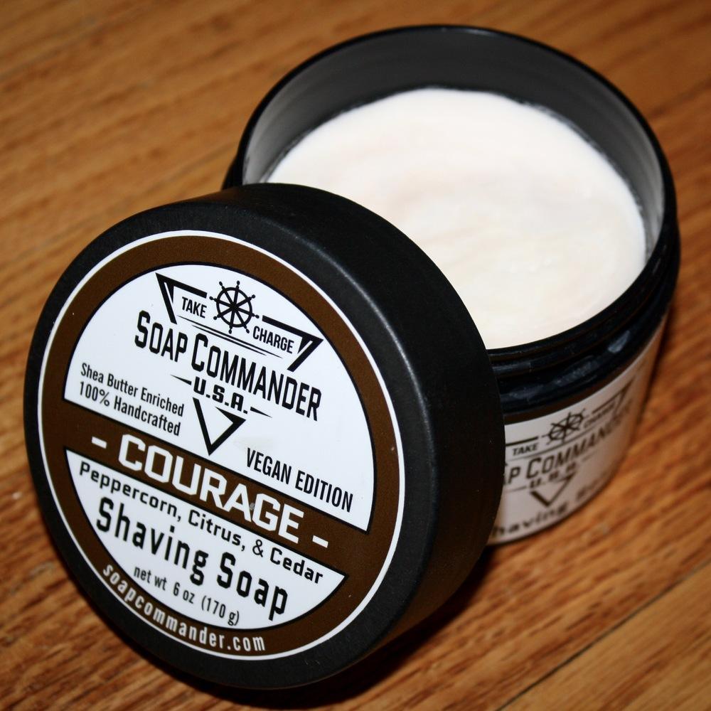 soap commander courage shaving soap review