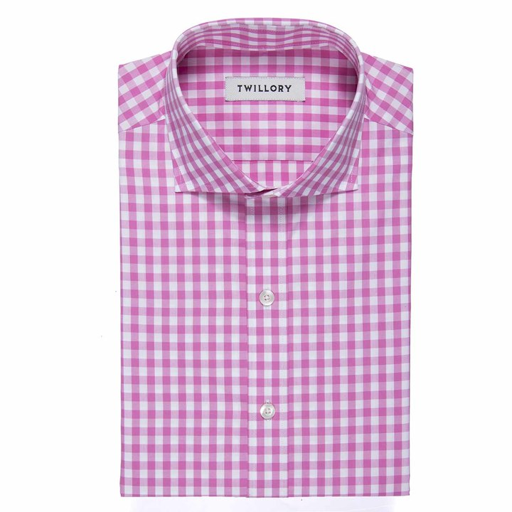 twillory pink gingham shirt