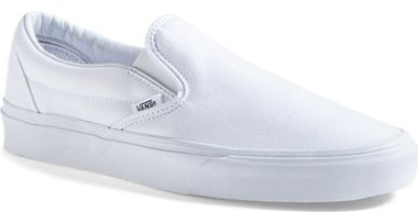 Vans white slip on sneaker