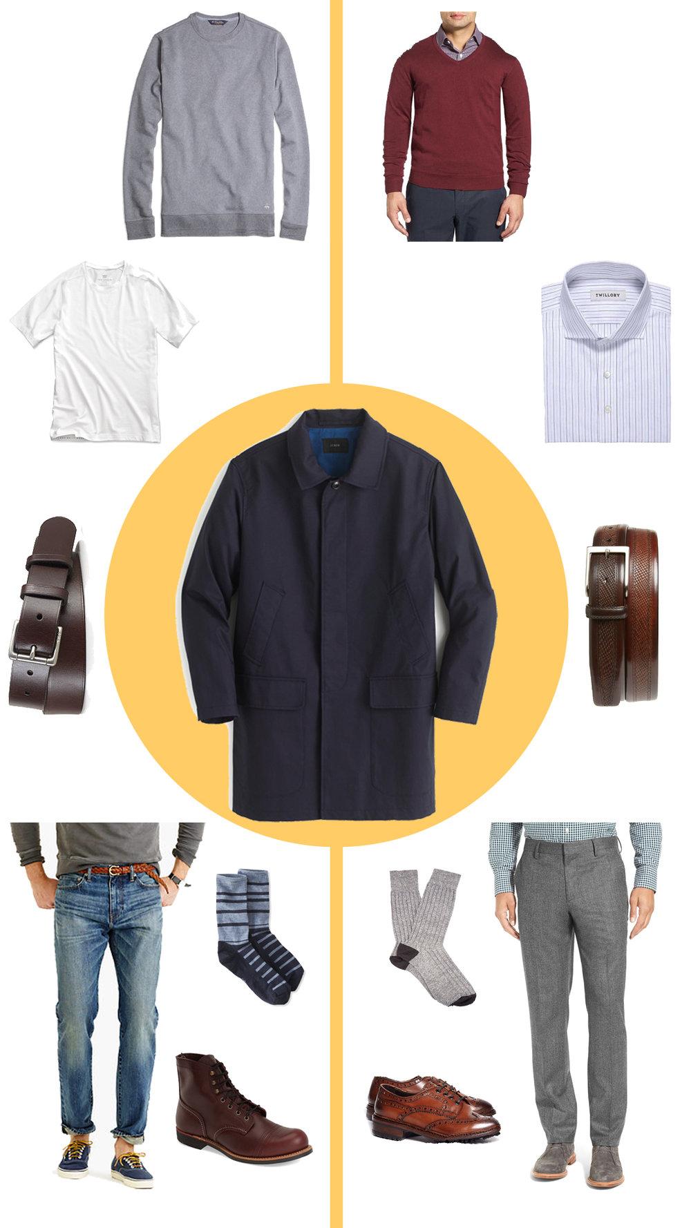 outfit inspiration a mackintosh jacket two ways
