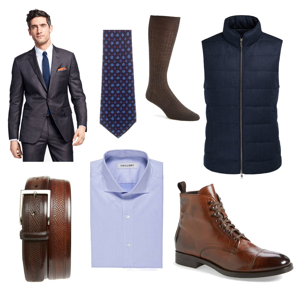 who to style a puffer vest formal