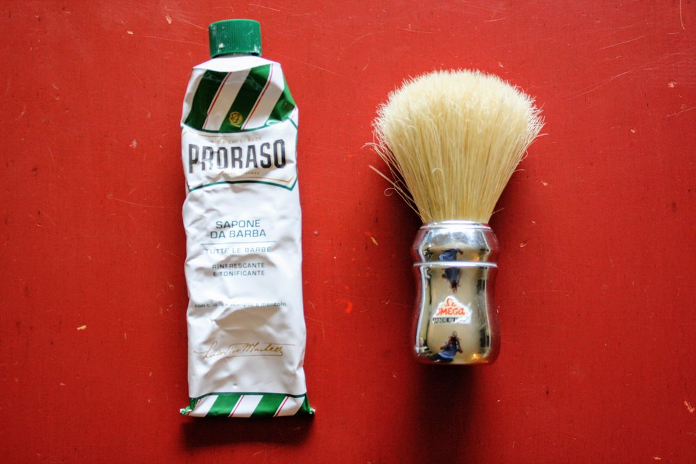 Proraso tube added for scale.