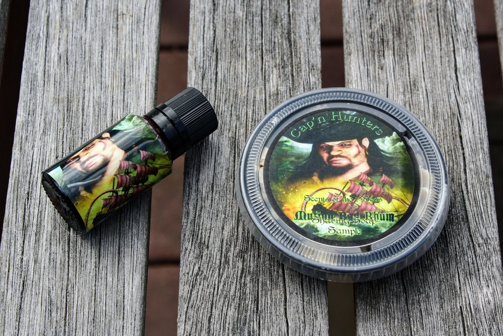 Cap'n Hunter's Mutiny Bay Rhum Shaving Soap and Aftershave