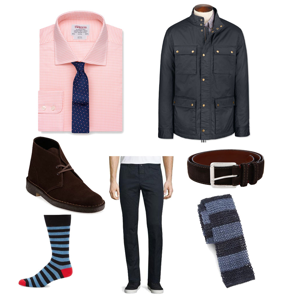 Business Casual Field Jacket Outfit for Spring