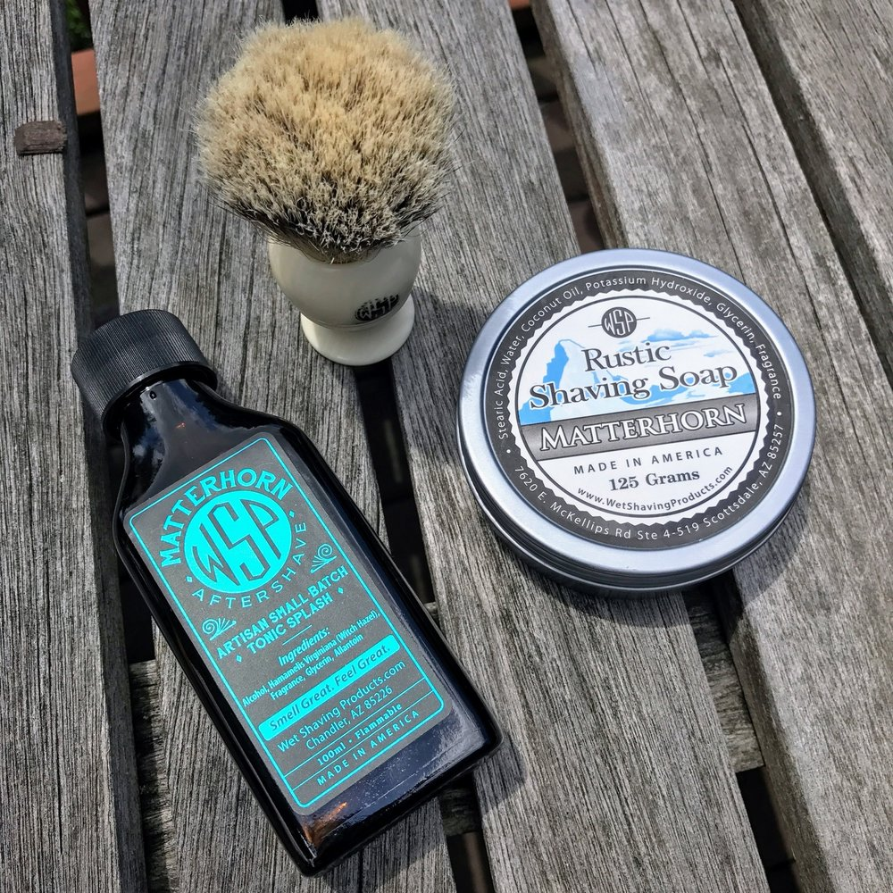 wet shaving products matterhorn rustic shaving soap and aftershave tonic review