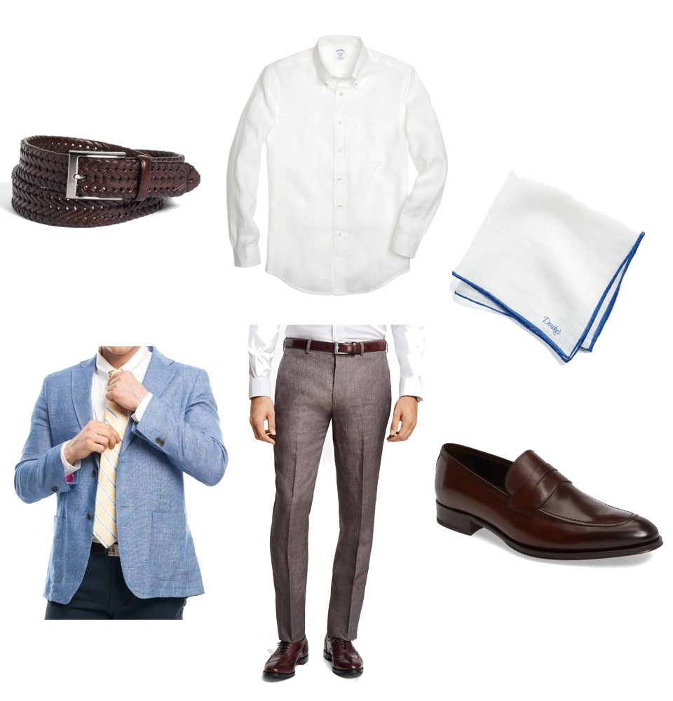 Linen Shirt and Jacket Business Casual Outfit