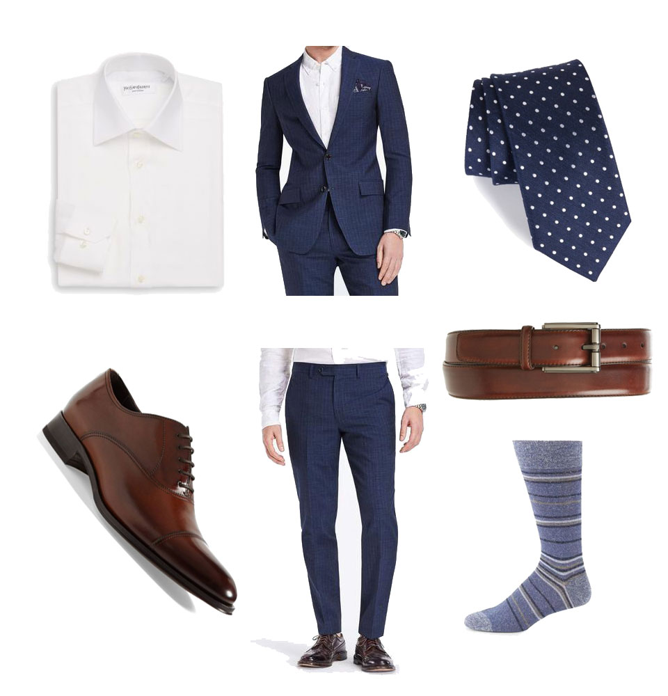 Linen Shirt and Suit Formal Outfit