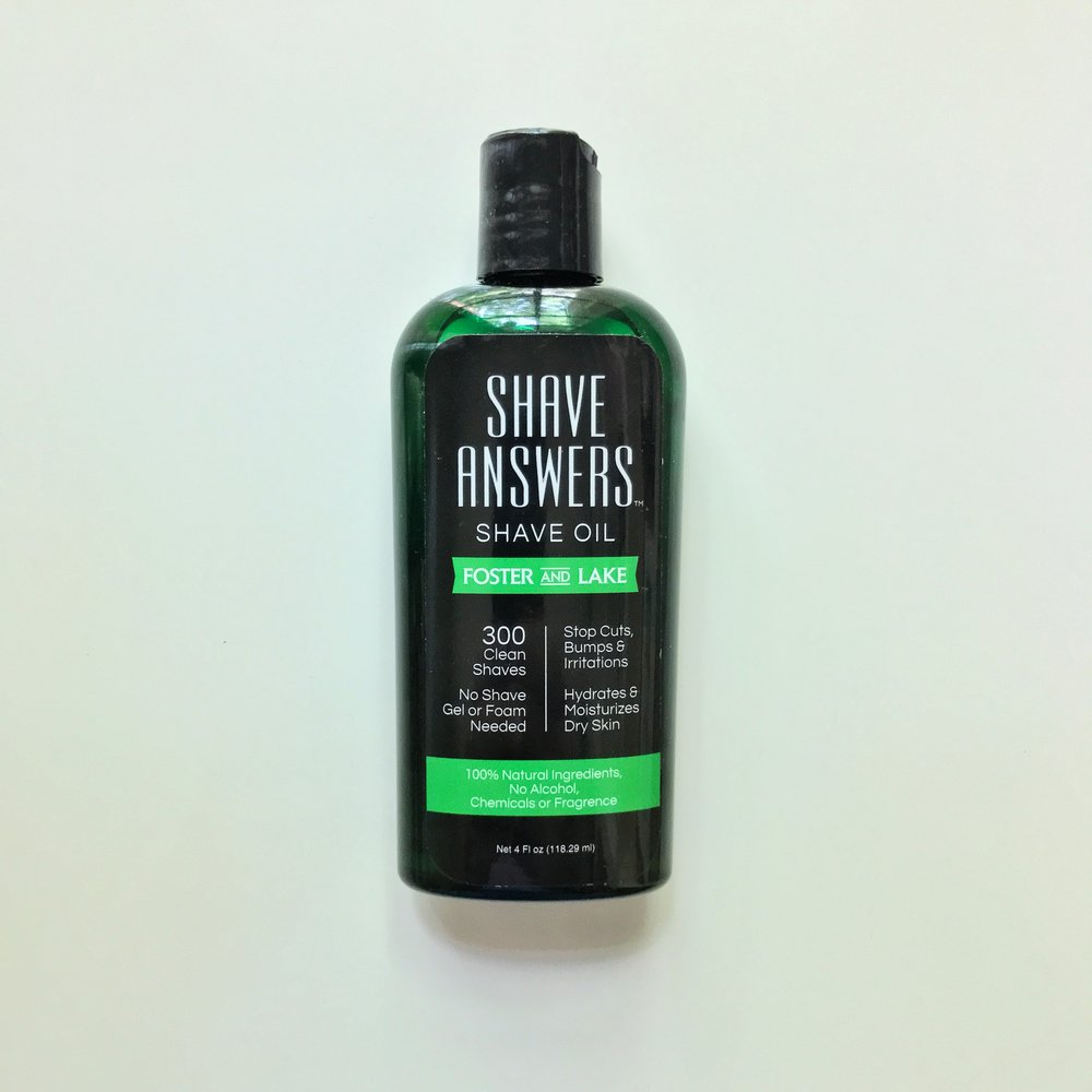 Foster and Lake Shave Answers Shaving Oil Review