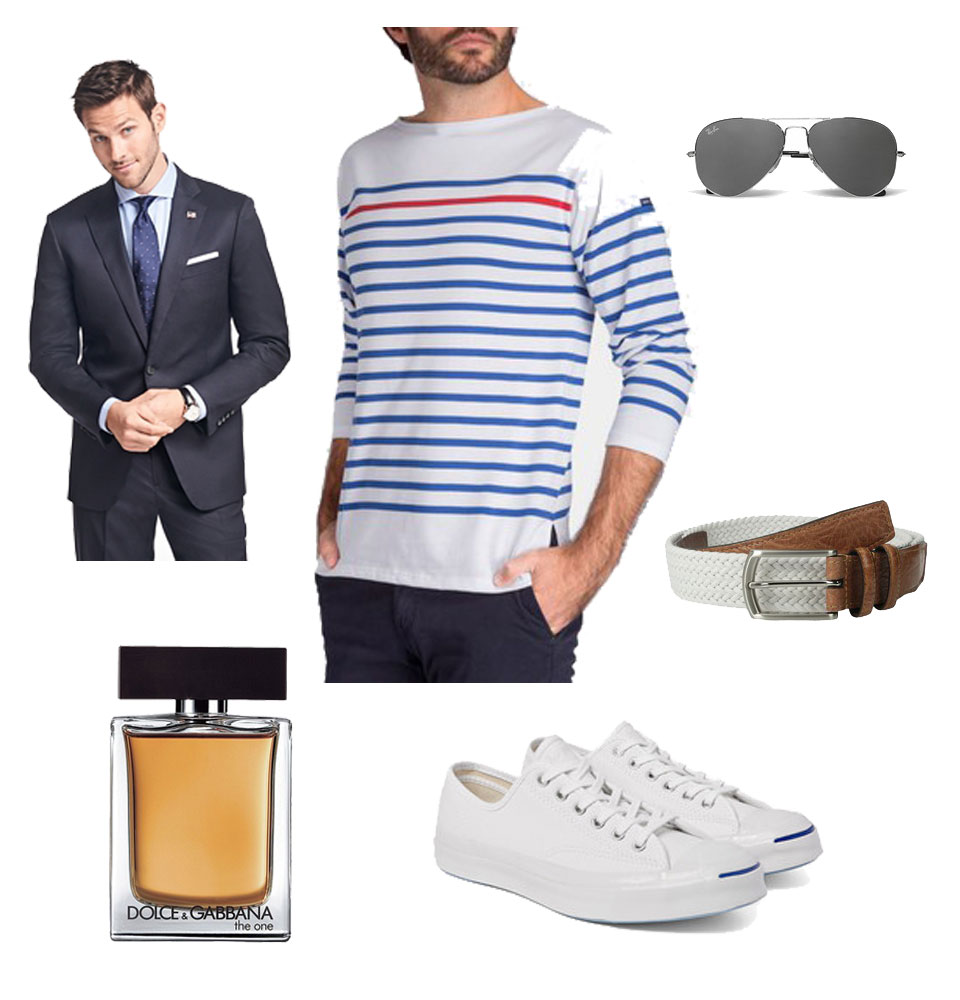 Saint-James Breton Stripe Shirt and Suit