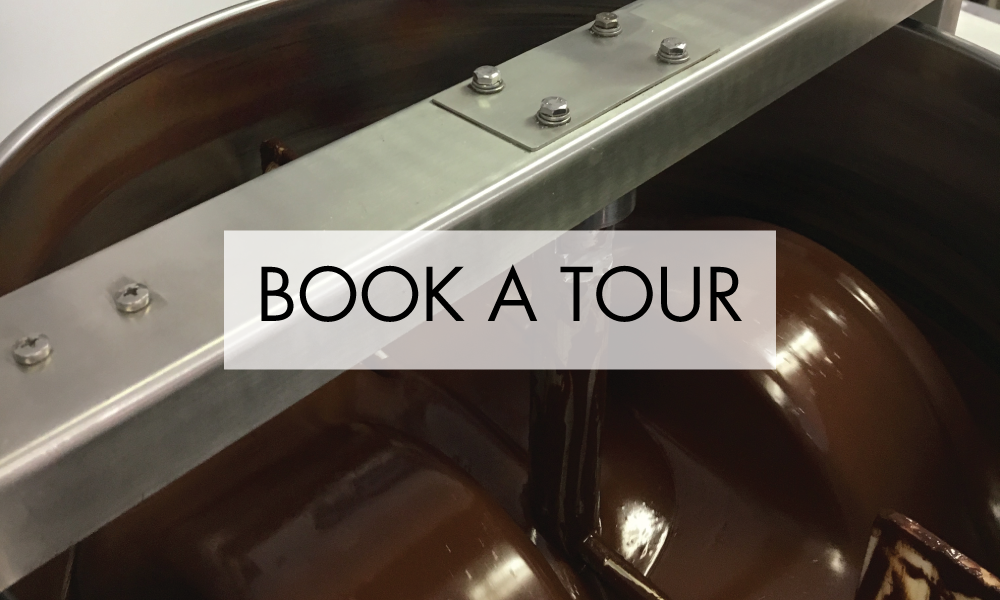 Schedule a Tour of Our Production Facility - Learn what it takes to truly start from scratch and journey from bean to bar!