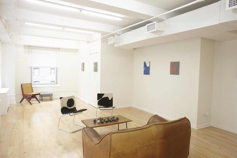 Michael Voss ,  Paintings With Names and Related Drawings , Main Gallery Installation View