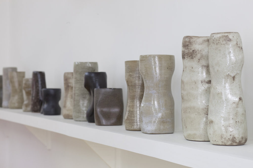 Barry Canter ,  Ceramic Sculptures , Back Room Installation View