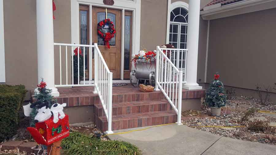 iron stail railings installation - bernies fence company - jackson county mo and kansas city mo.jpg