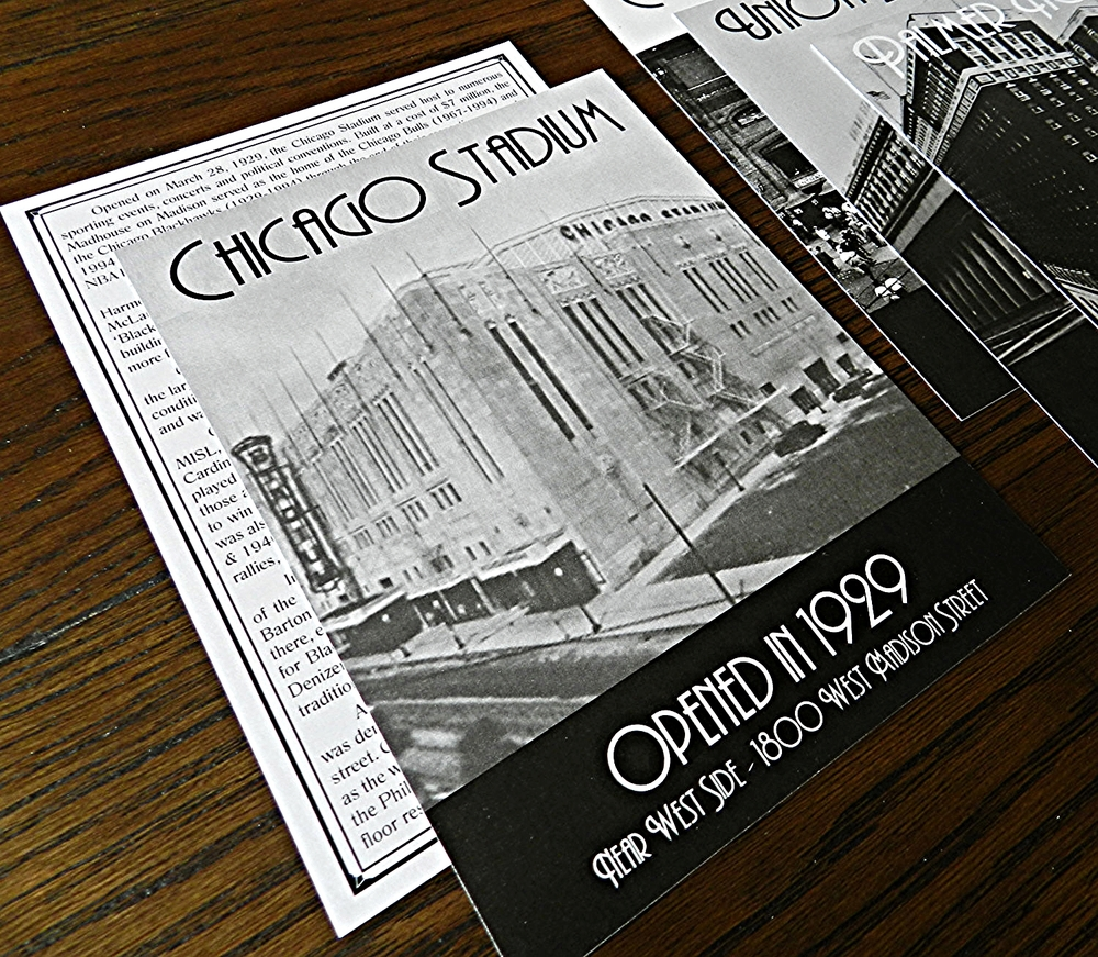Chicago Buildings Wedding Table Number Cards - Ashley Parker Creative - Black