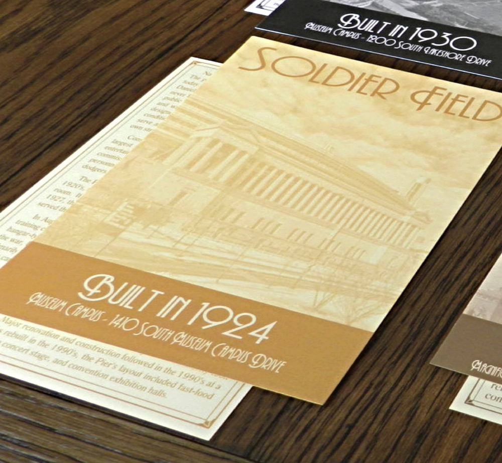 Chicago Buildings Wedding Table Number Cards - Ashley Parker Creative - Gold