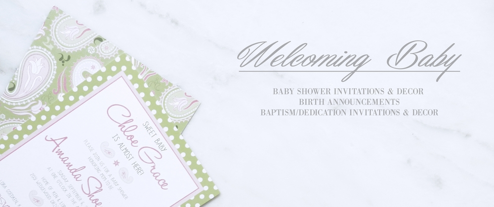 Welcoming Baby Paper by Ashley Parker Creative