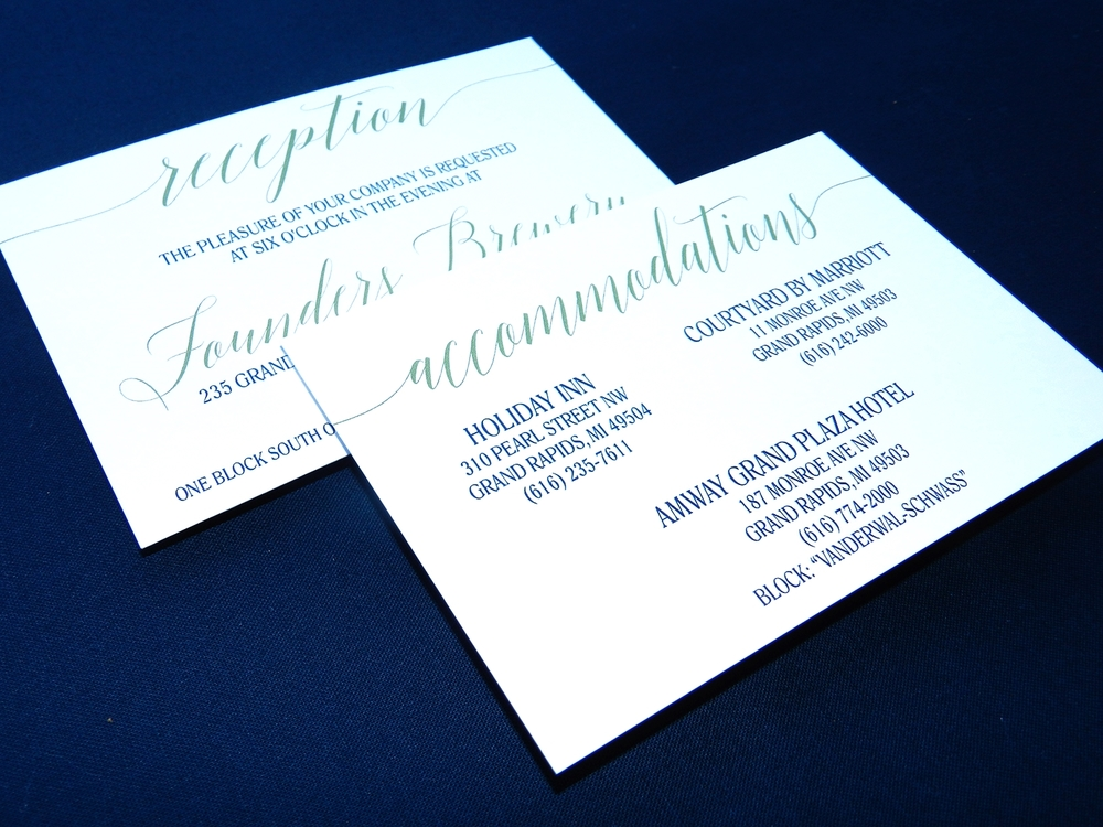 Modern Blooms Wedding Invitation - Details Insert - by Ashley Parker Creative