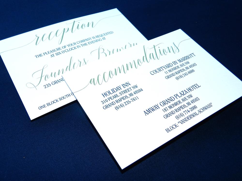 Modern Blooms Wedding Invitation - Details Insert - by Ashley Parker Creative