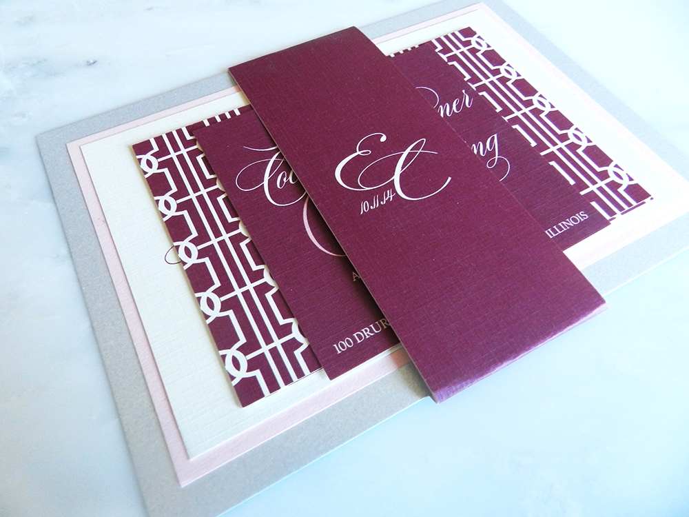 Lovely Links Wedding Invitation - Fully Assembled -  by Ashley Parker Creative