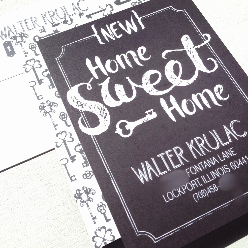 Keys Moving Annoucement by Ashley Parker Creative.  Cute cards to let your friends and family know about your new home and new address!