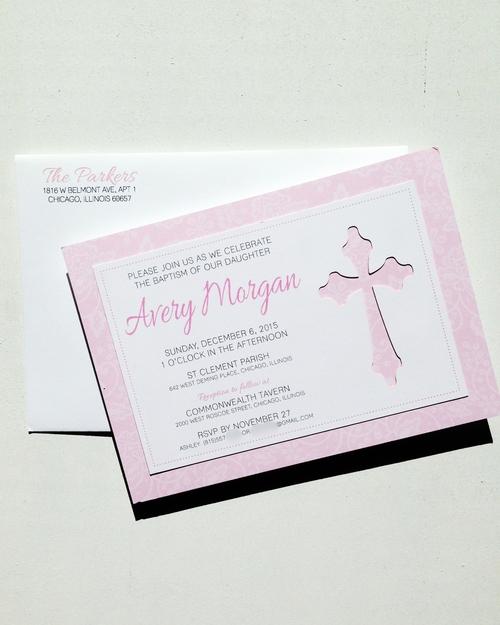 Lace & Cross Invitation