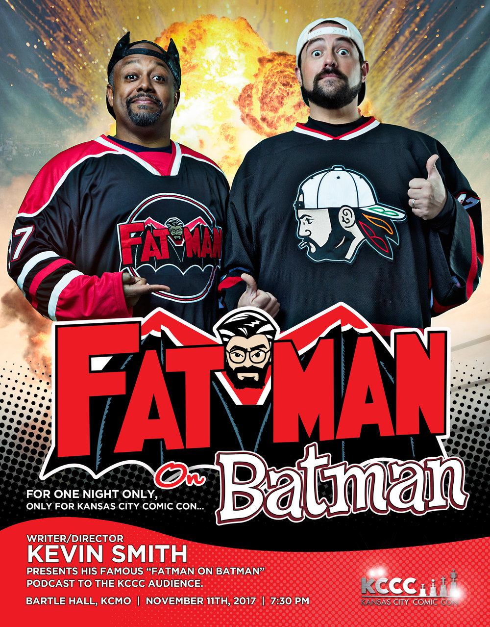 Kevin Smith and Marc Bernardin present Fatman on Batman at Kansas City Comic Con. Click image for tickets!