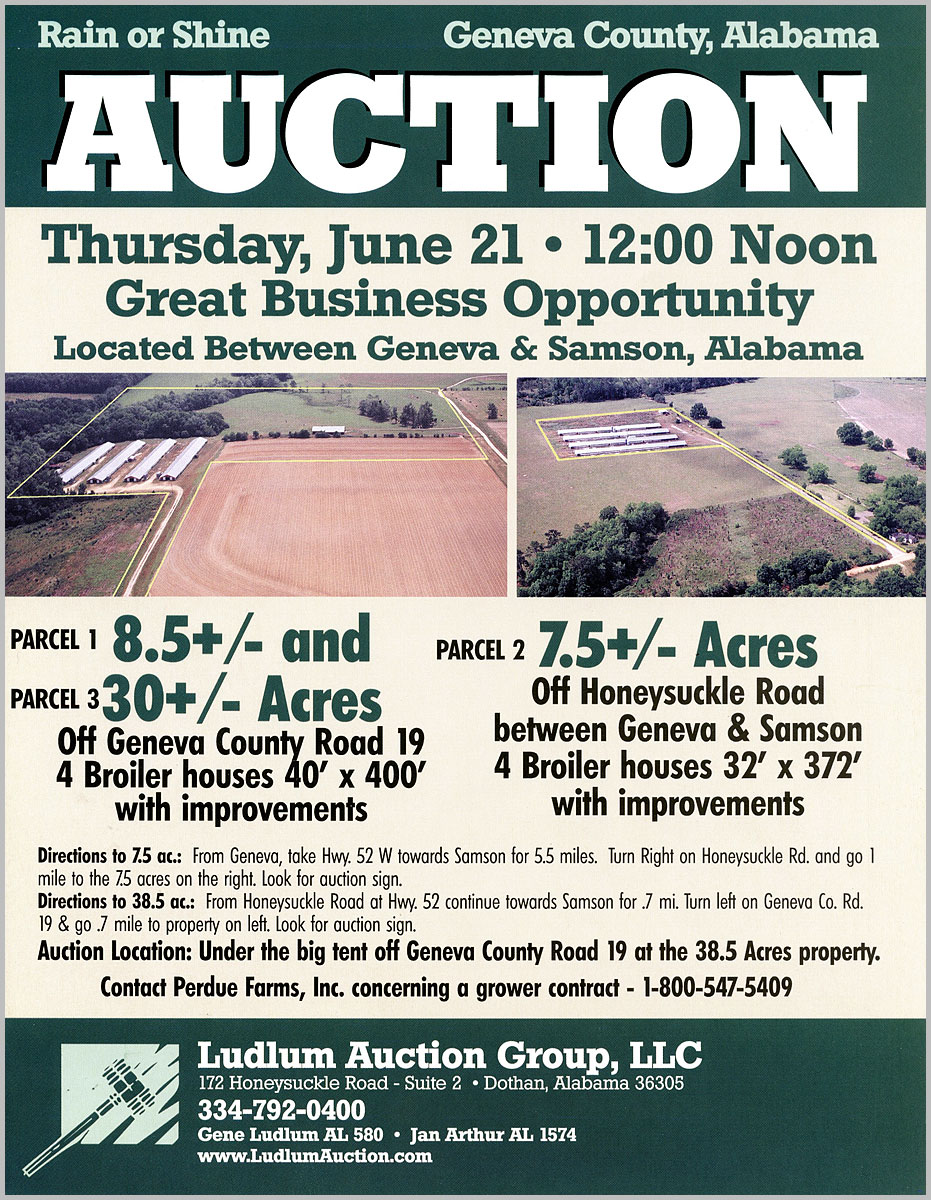 Genva County, AL Auction aerial photos
