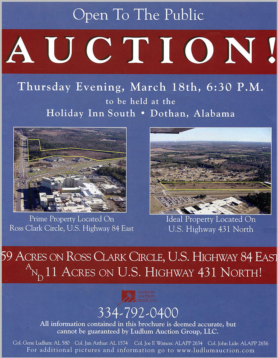 Dothan, AL Auction aerial photos