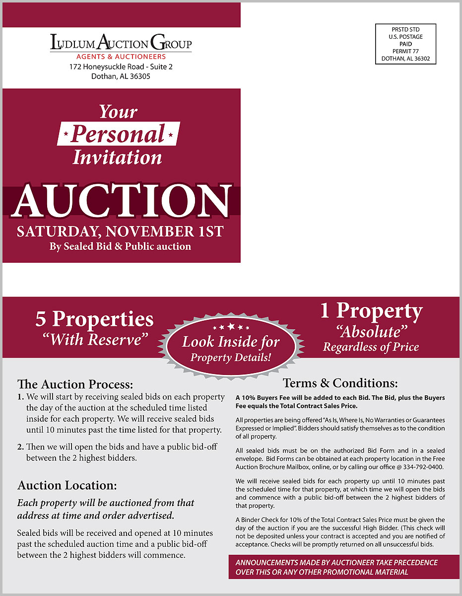 South AL Estate Auctions mailer