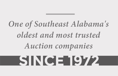 One of Southeast Alabma's oldest and most trusted Auction companies since 1972