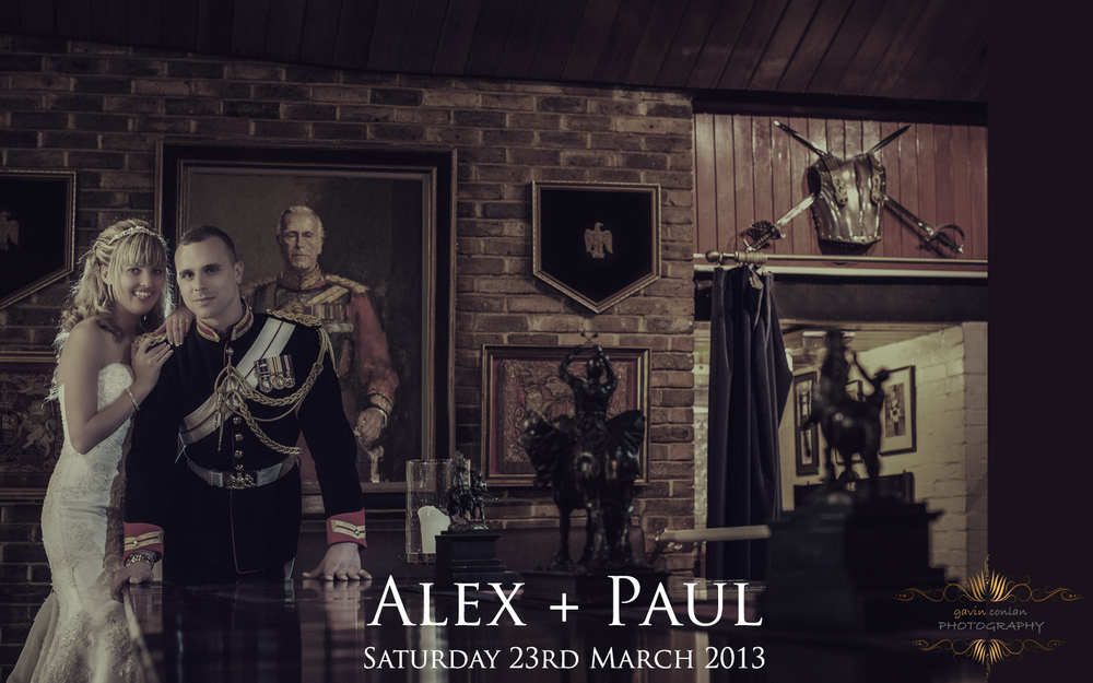 click on this photo to access the wedding day blog post of Alex and Paul. Wedding photography by gavin conlan photography Ltd