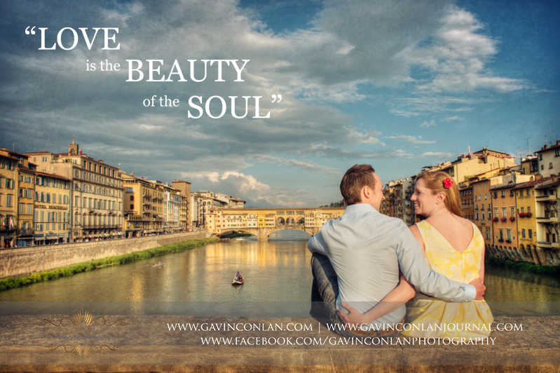 Florence, Italy engagement photography by  gavin conlan photography Ltd