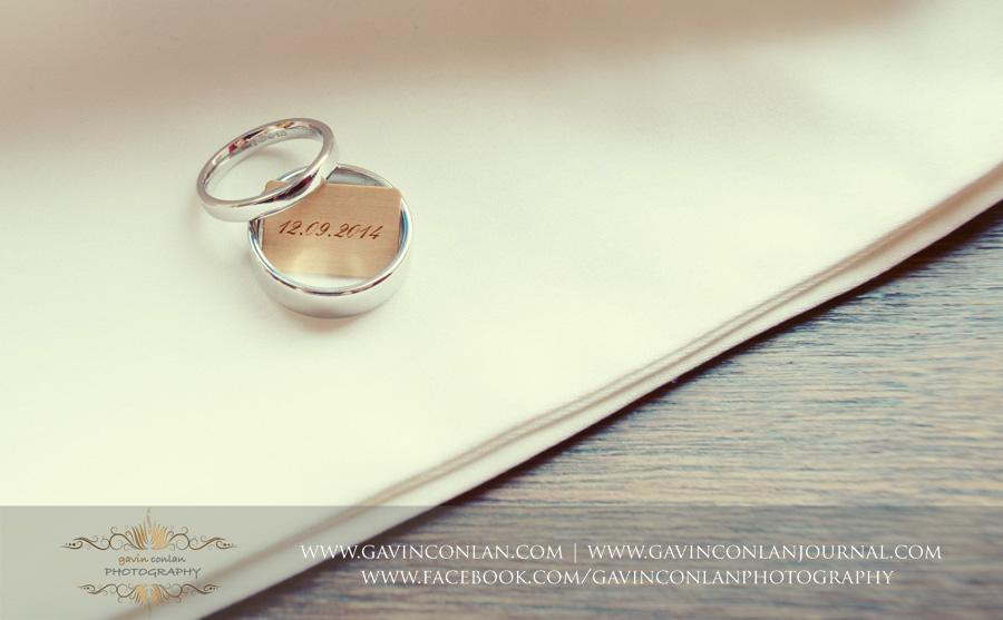 wedding rings.Wedding photography by gavin conlan photography Ltd