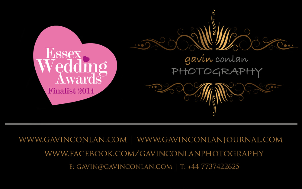 gavin conlan photography Ltd is a finalist in the wedding photography category of the Essex Wedding Awards